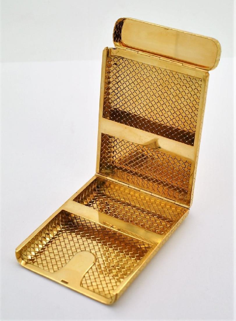 Van Cleef & Arpels VCA 18K Gold Basket Weave Card Case - 3