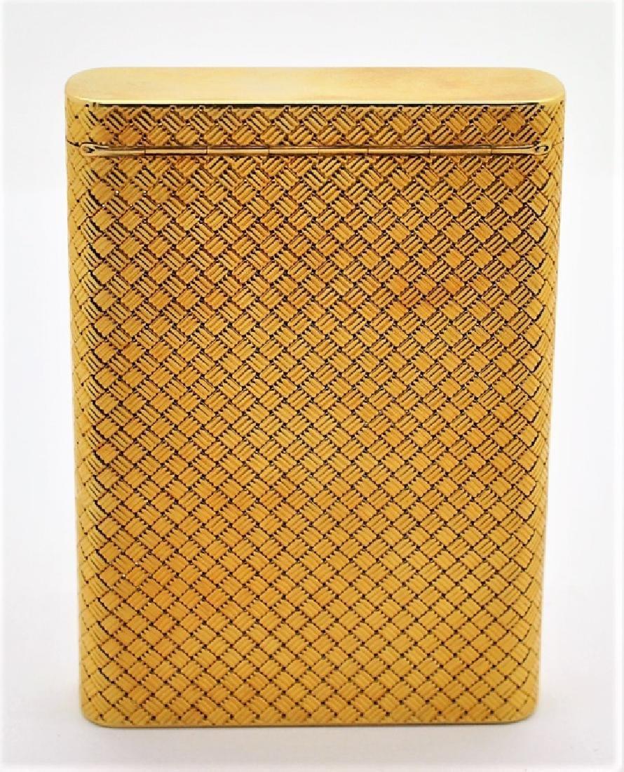 Van Cleef & Arpels VCA 18K Gold Basket Weave Card Case - 5