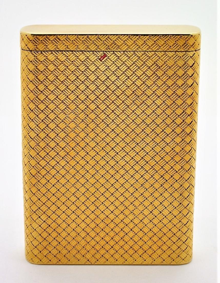 Van Cleef & Arpels VCA 18K Gold Basket Weave Card Case - 6