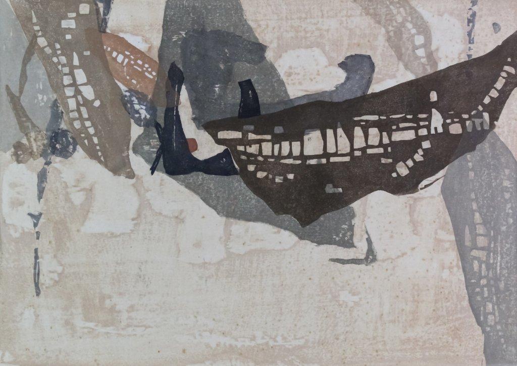 Japanese Rikio Takahashi Modernist Woodblock Print - 2