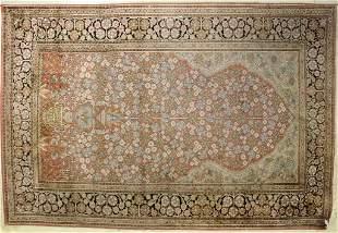 Oriental Fine Woven Pastel Pink Wool Rug 48 x 73