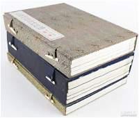 3 Chinese Watercolor Woodblock Print Book Albums