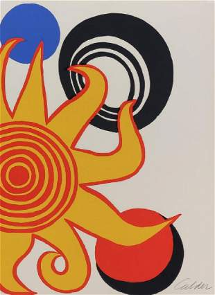 Alexander Calder 1898-1976 American Litho Print