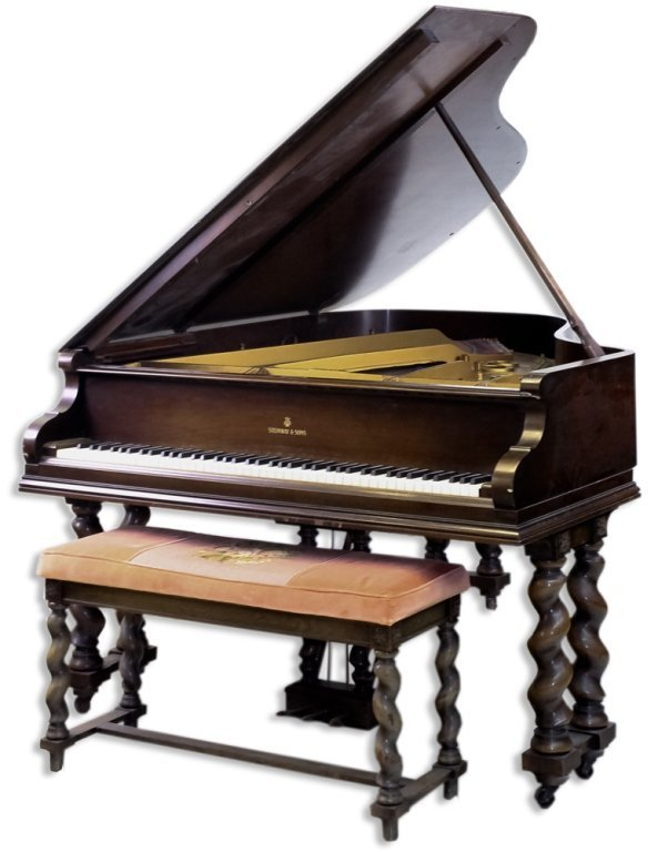 Antique Steinway & Sons Mahogany Grand Piano