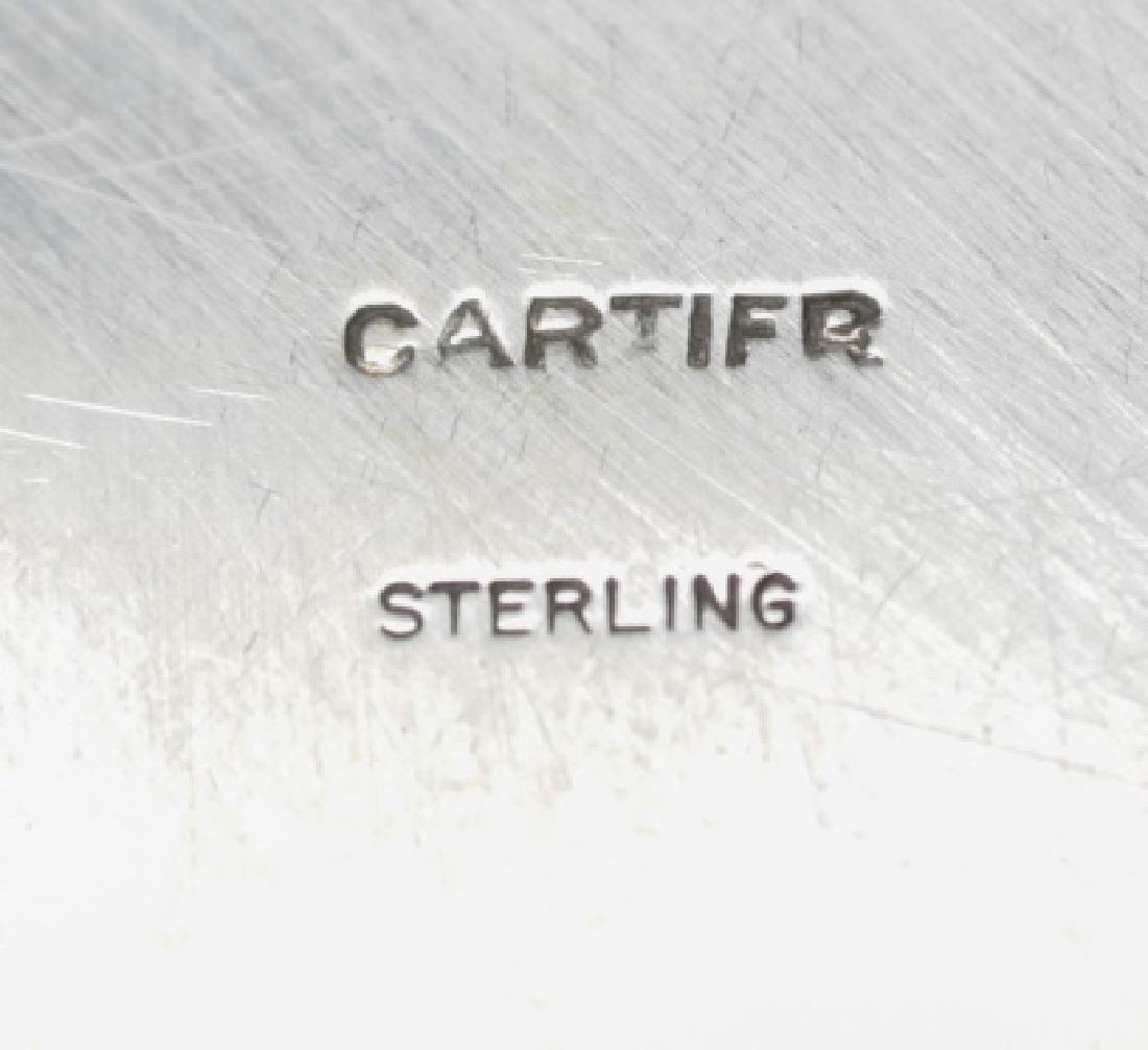 Cartier Spinach Green Jade & Sterling Lidded Box - 3