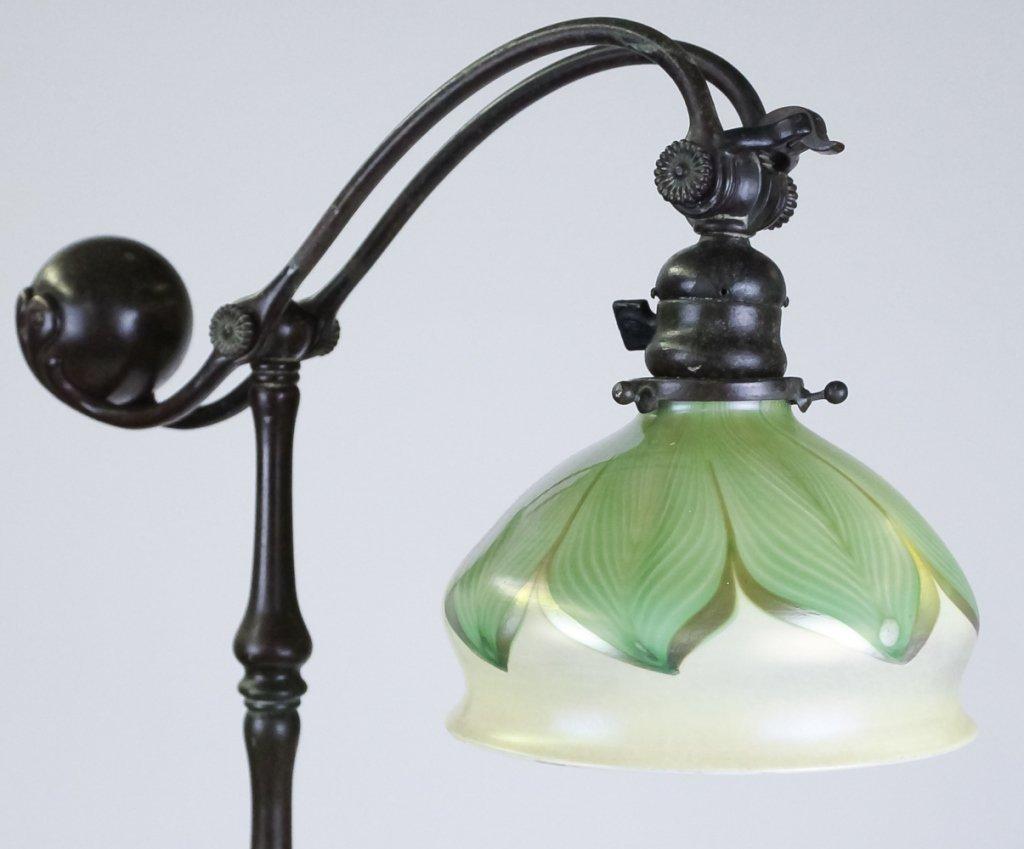 Tiffany Studios Pulled Feather Shade Bridge Lamp - 2