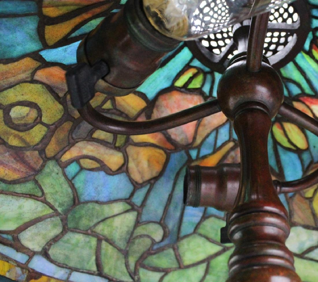 Tiffany Studios Bronze Lamp Wire Mesh Poppy Shade - 7