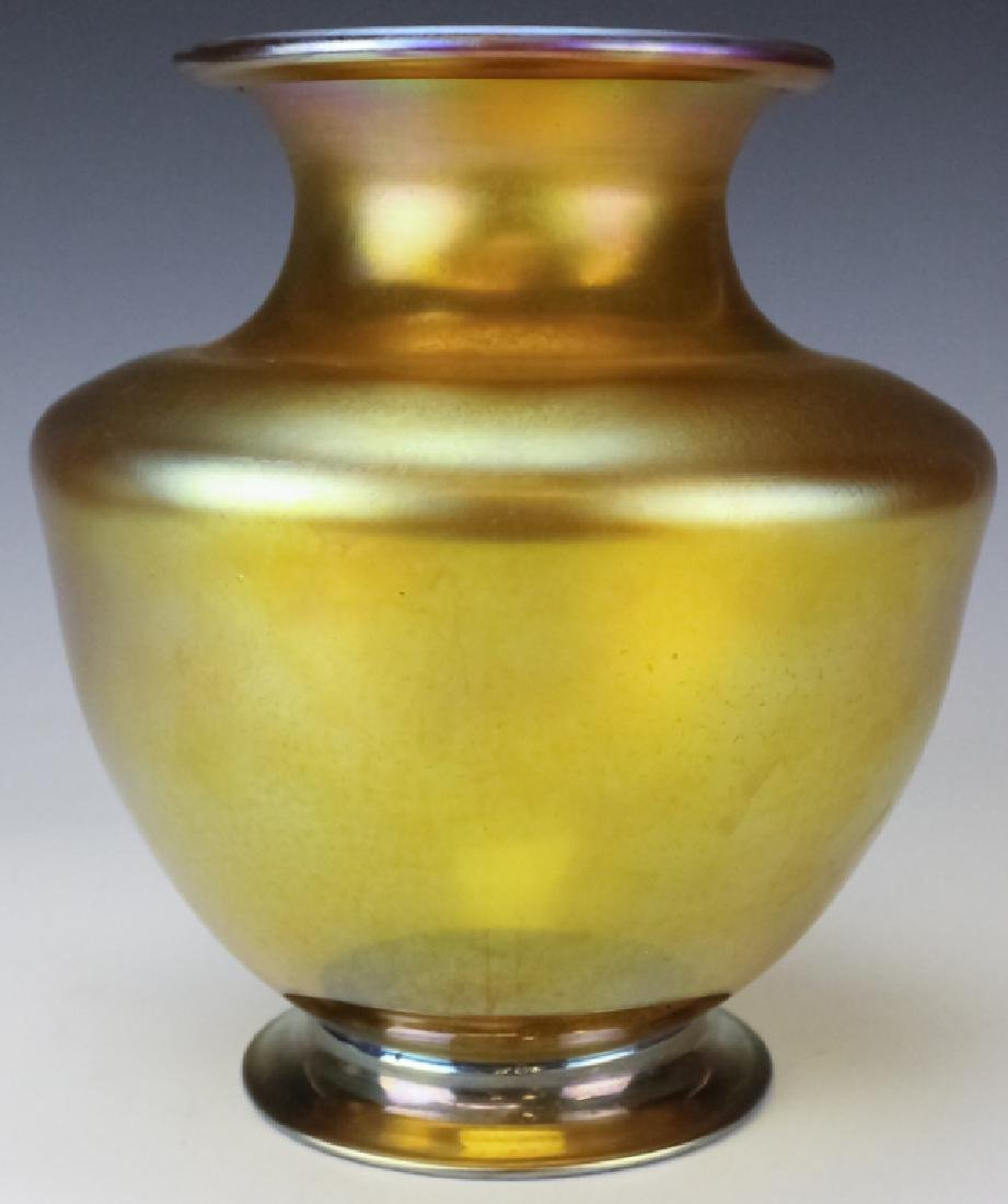 Louis Comfort Tiffany Gold Favrille Glass Vase