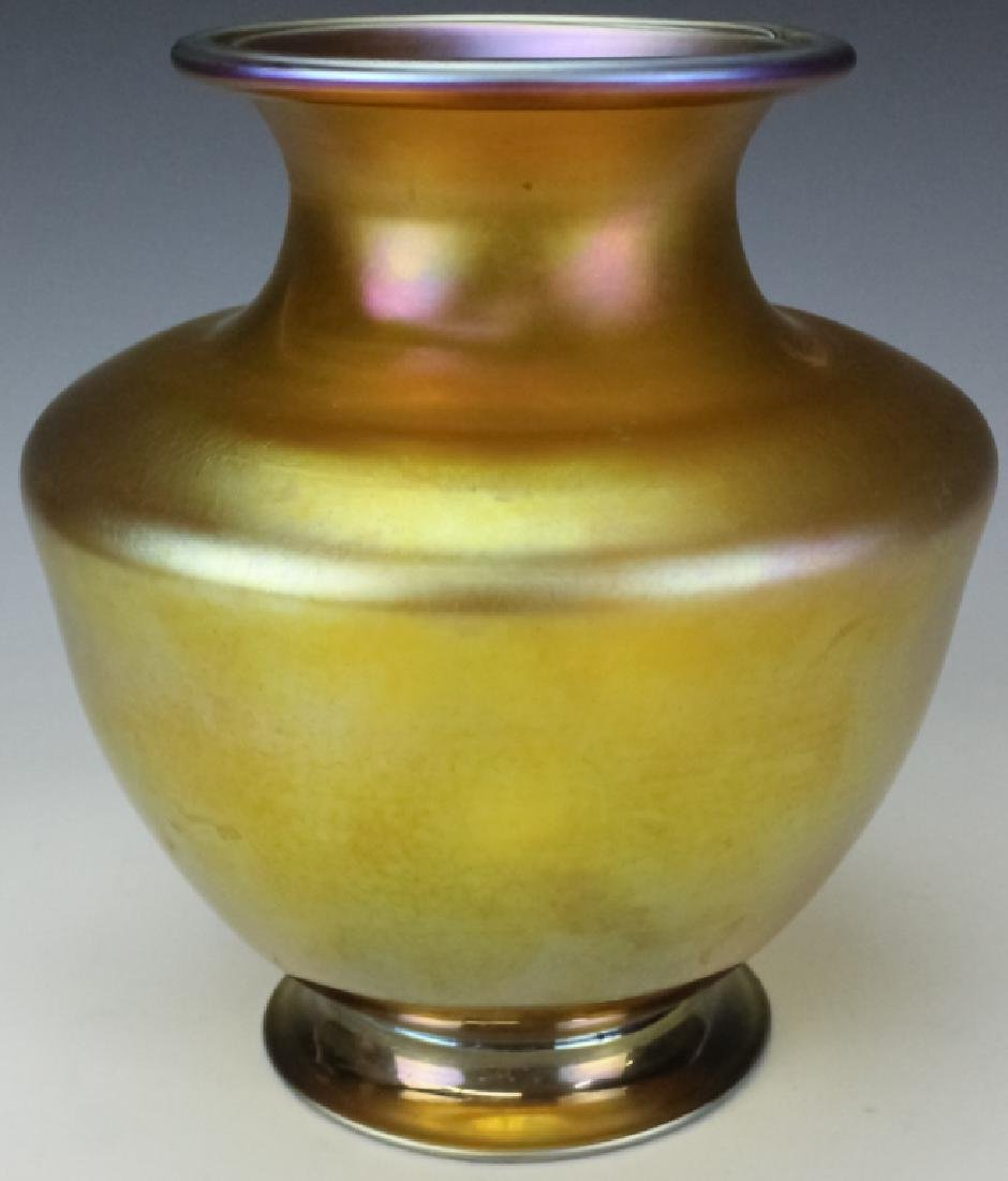 Louis Comfort Tiffany Gold Favrille Glass Vase - 3