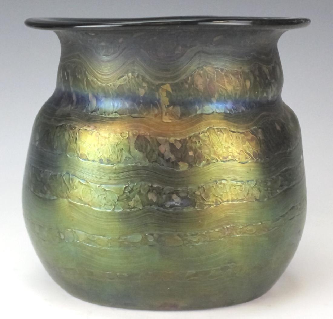 Signed Loetz Austrian Art Glass Organic Form Vase