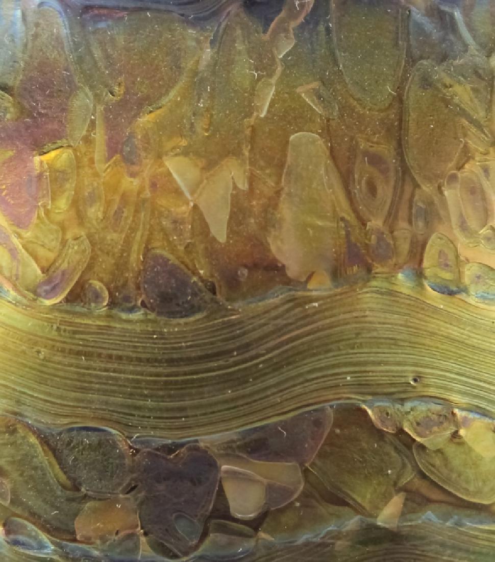 Signed Loetz Austrian Art Glass Organic Form Vase - 5