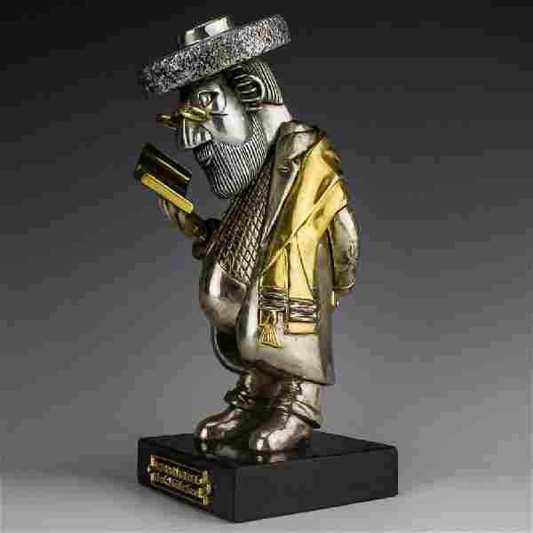 Frank Meisler b.1929 Rebbe Mendel L/E Sculpture