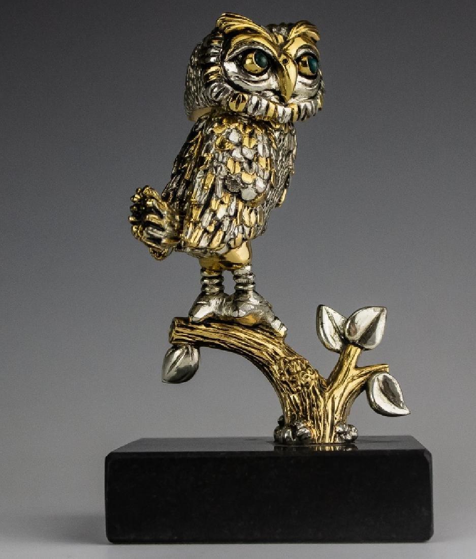 Frank Meisler b.1929 Israel Owl Bird Sculpture - 2