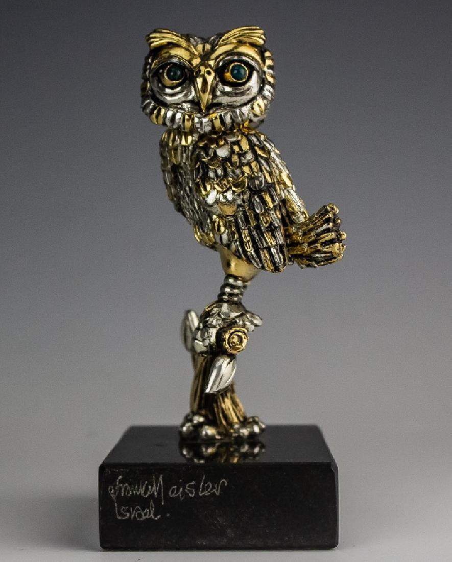 Frank Meisler b.1929 Israel Owl Bird Sculpture - 3