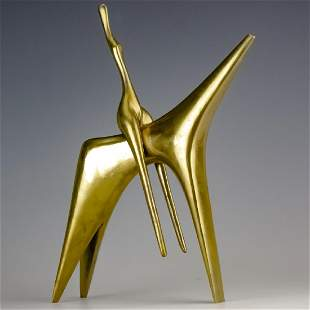 Aharone Bezalel (1926-2012) Horse Bronze Sculpture