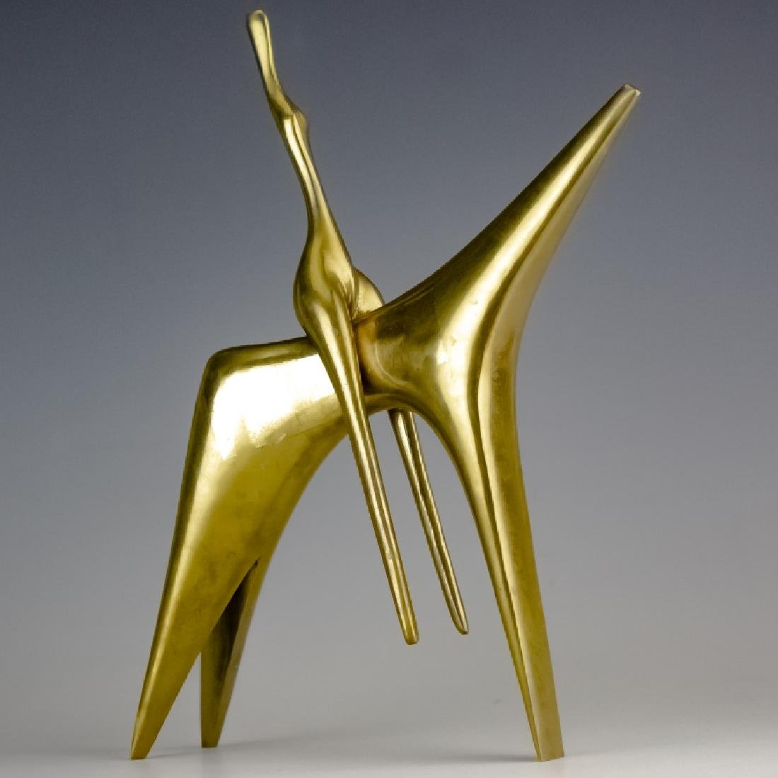 Aharone Bezalel (1926-2012) Horse Bronze Sculpture