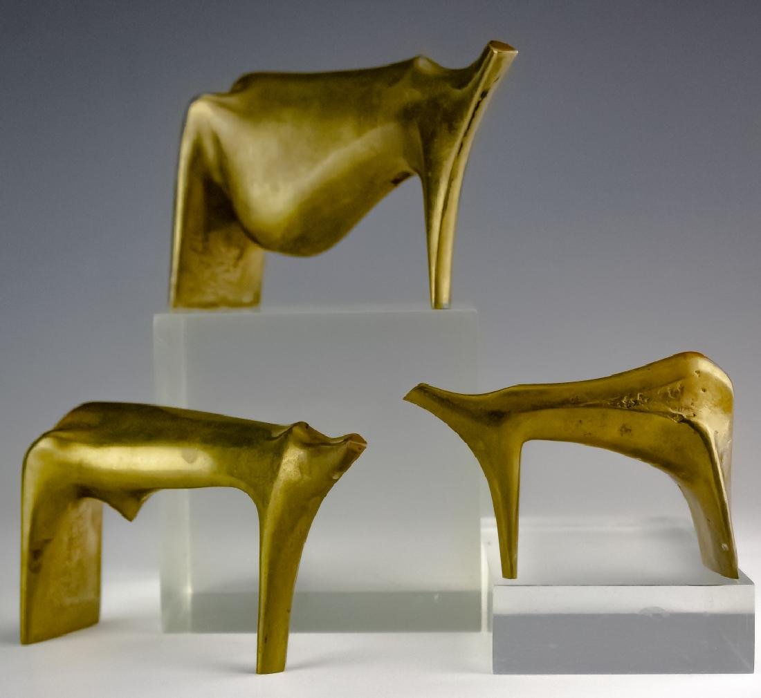 Aharone Bezalel (1926-2012) Herd Bronze Sculpture
