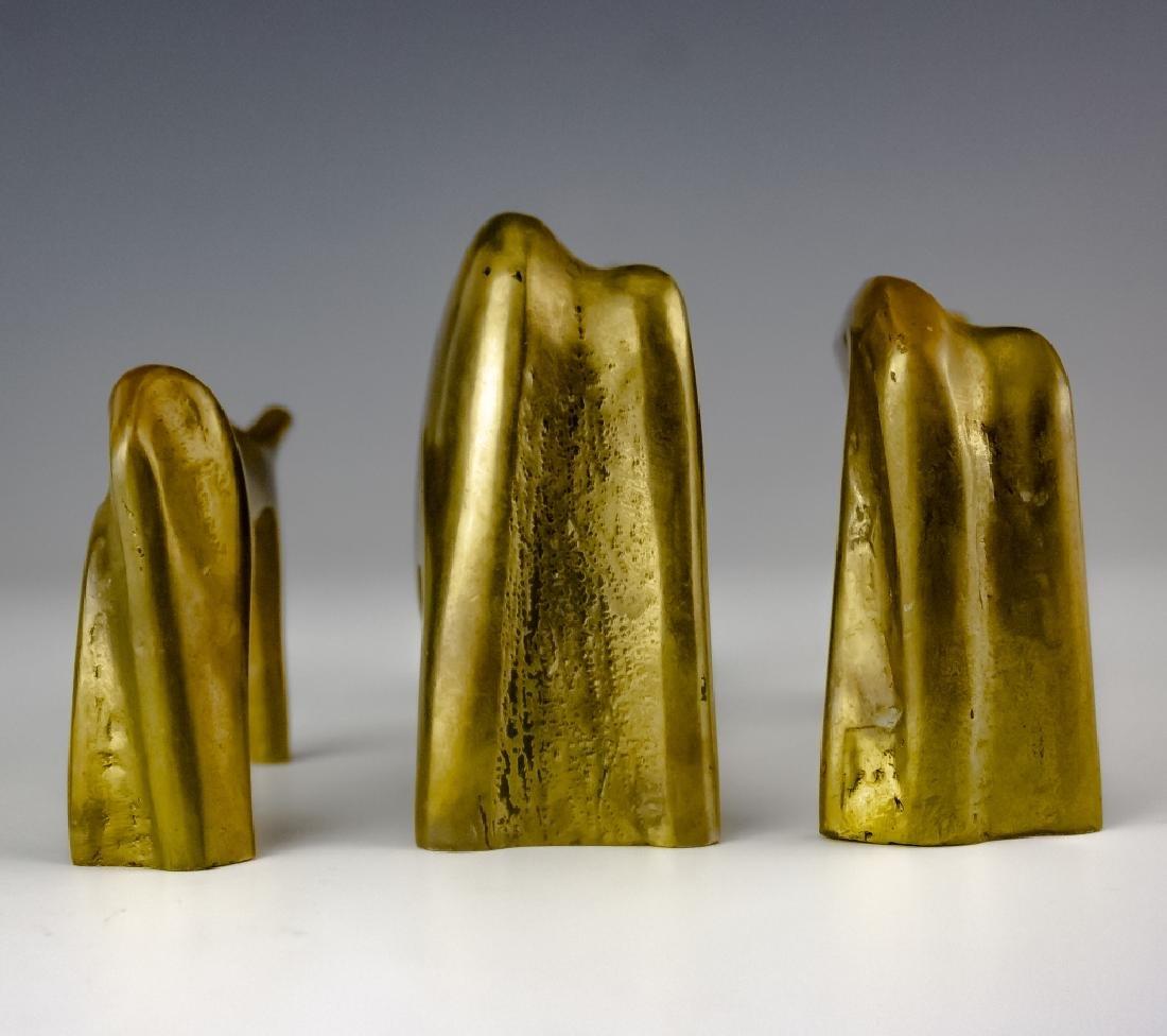 Aharone Bezalel (1926-2012) Herd Bronze Sculpture - 4