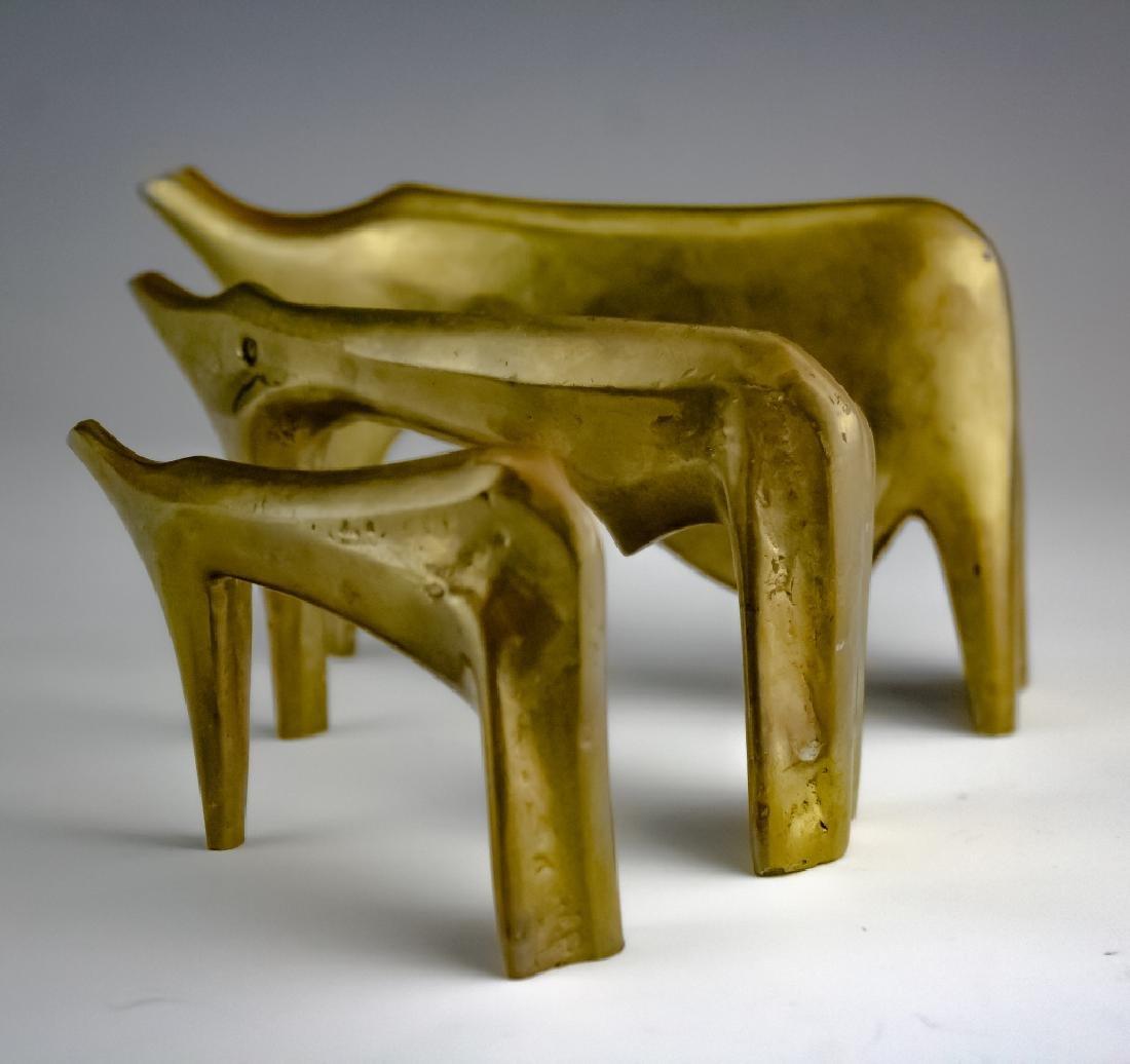Aharone Bezalel (1926-2012) Herd Bronze Sculpture - 8
