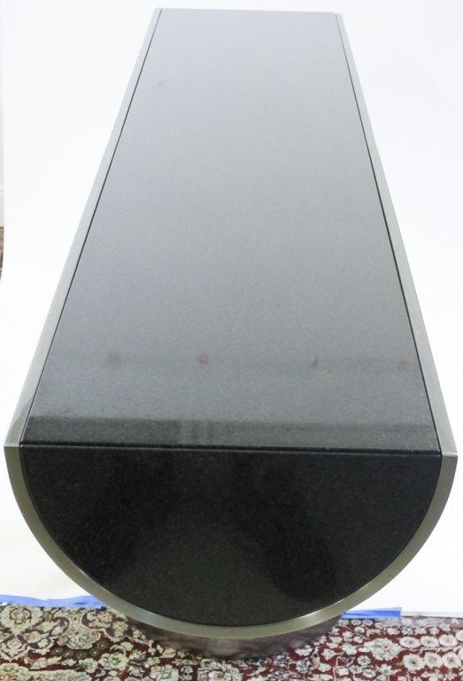 Brueton J Wade Beam Steel T Modern Console Table - 2