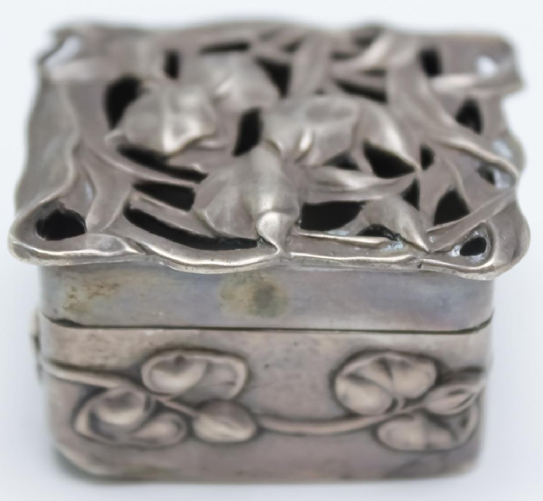 William Comyns Sterling Nouveau Reticulated Box