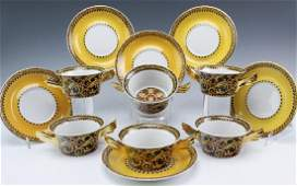 12 Versace Barocco Rosenthal Soup Bowls w Saucers