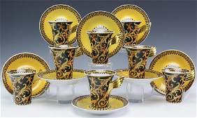 16 Versace Barocco Rosenthal China Cup & Saucers