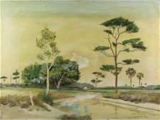 Ray Riggin Mid Century Florida Landscape Painting