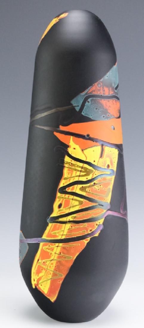 Fine Mystery Studio Artist Signed Art Glass Vase