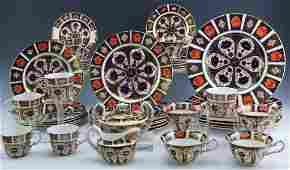 43 Royal Crown Derby Old Imari Porcelain China Set