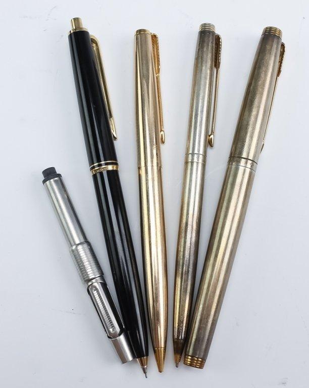Lot 30 Fine Fountain, Ball Point Pens & Pencils - 2