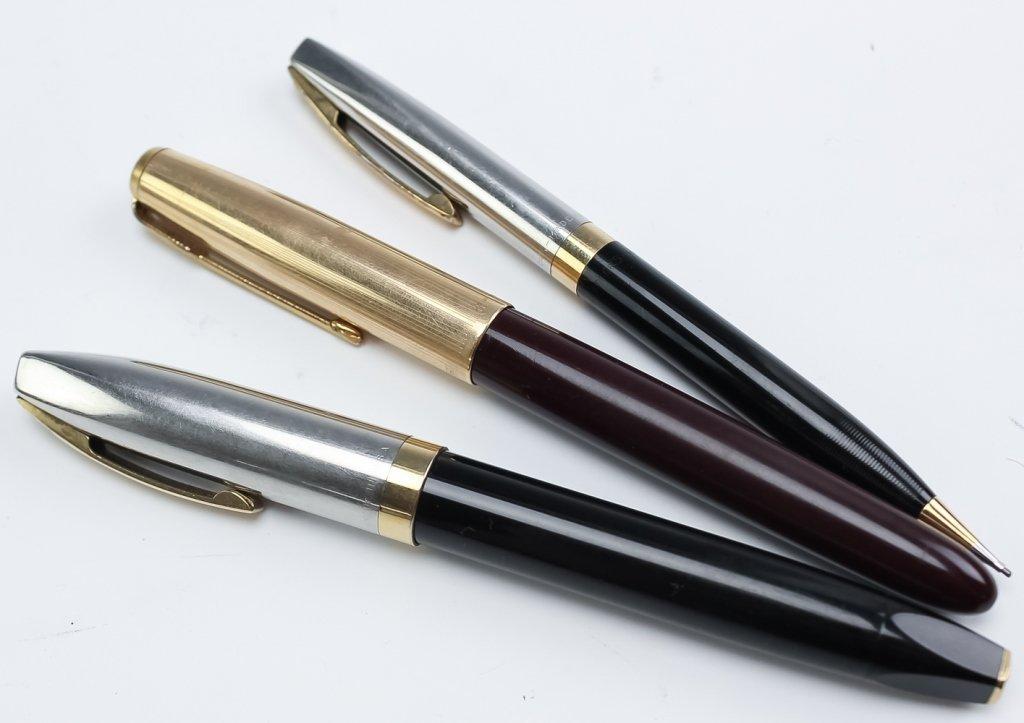 Lot 30 Fine Fountain, Ball Point Pens & Pencils - 4