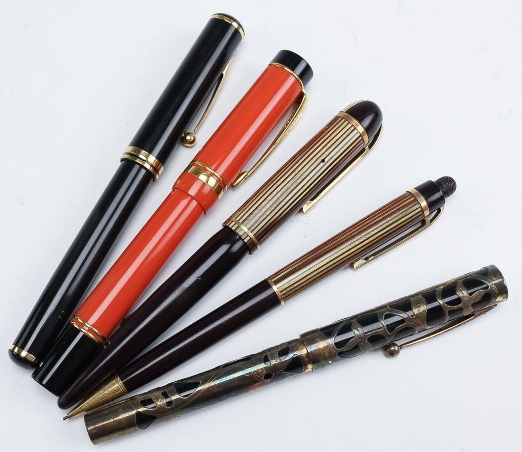 Lot 30 Fine Fountain, Ball Point Pens & Pencils - 8