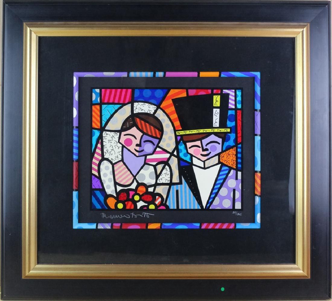 Romero Britto b.1963 Pop Art LE Wedding Serigraph - 2