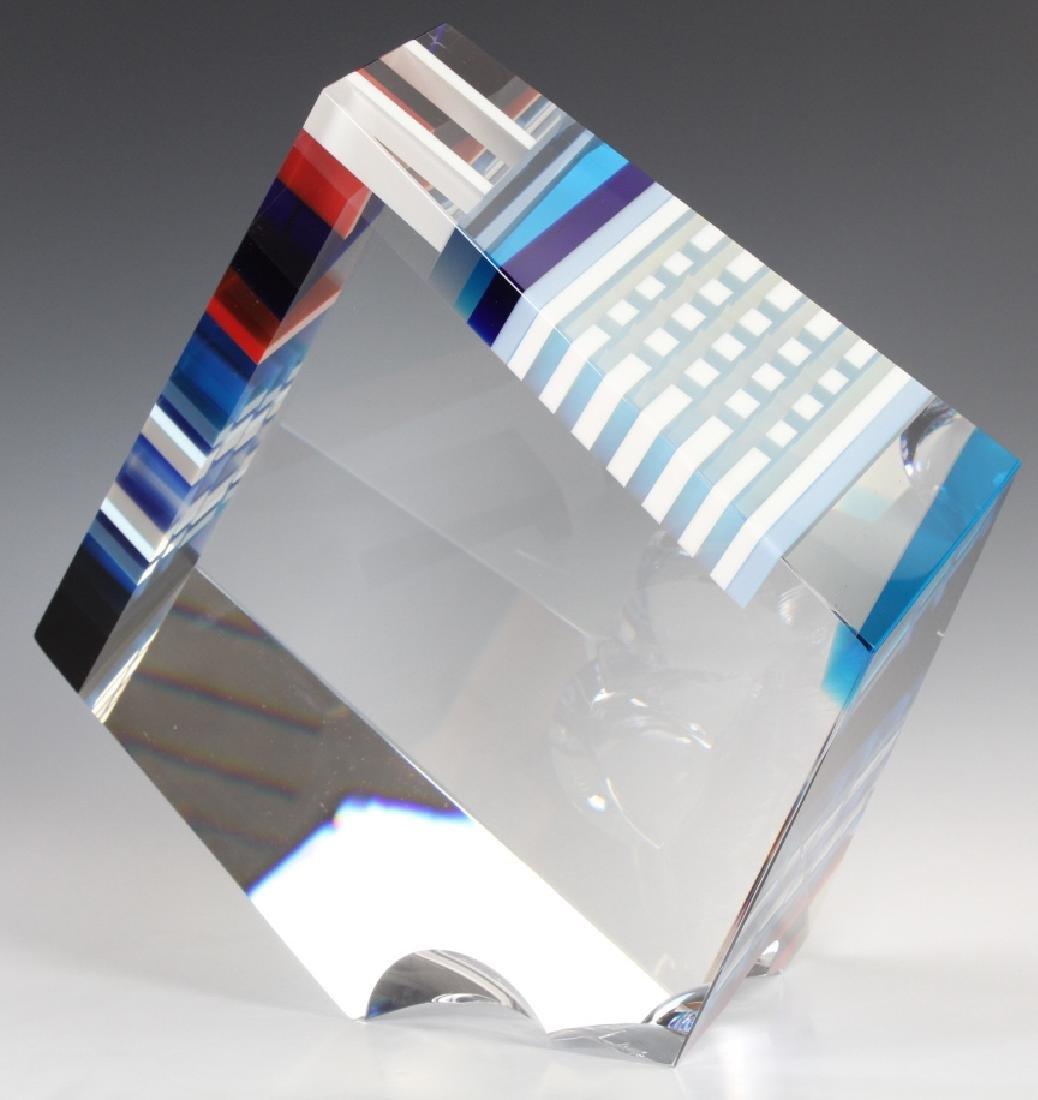 DAVID HUCHTHAUSEN American Art Glass Sculpture