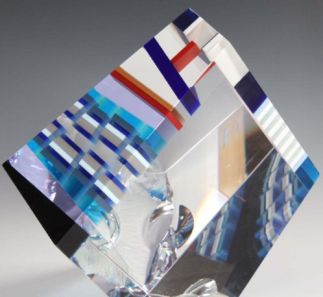 DAVID HUCHTHAUSEN American Art Glass Sculpture - 2