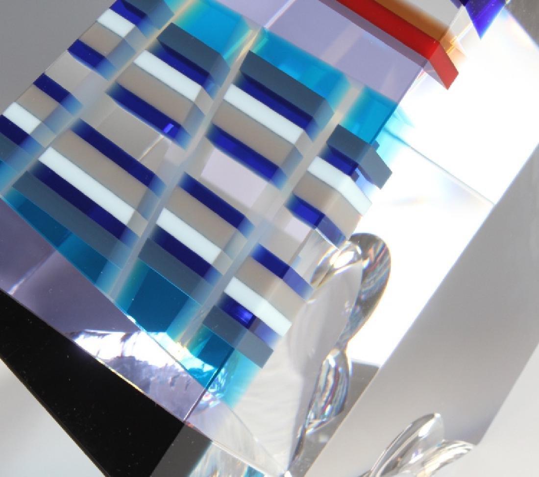 DAVID HUCHTHAUSEN American Art Glass Sculpture - 3