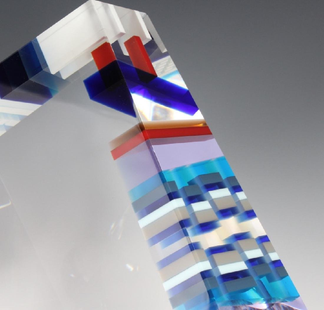 DAVID HUCHTHAUSEN American Art Glass Sculpture - 6