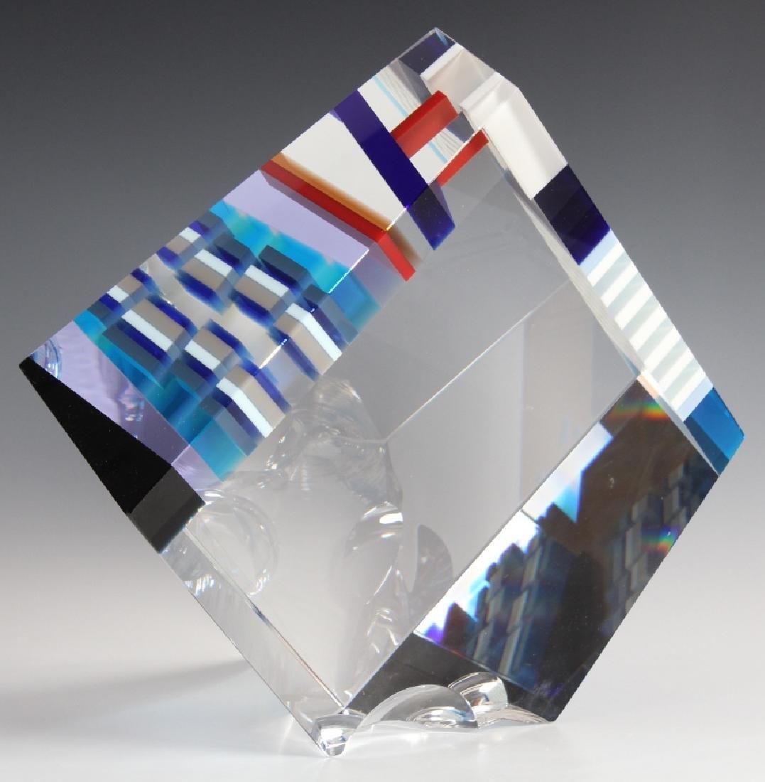 DAVID HUCHTHAUSEN American Art Glass Sculpture - 7