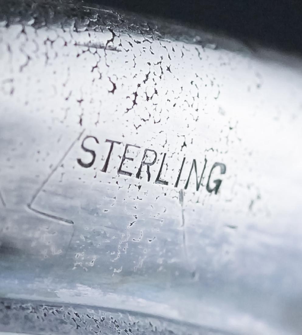 LOETZ Silver Overlay Aeolus Glass Vase SIGNED - 4