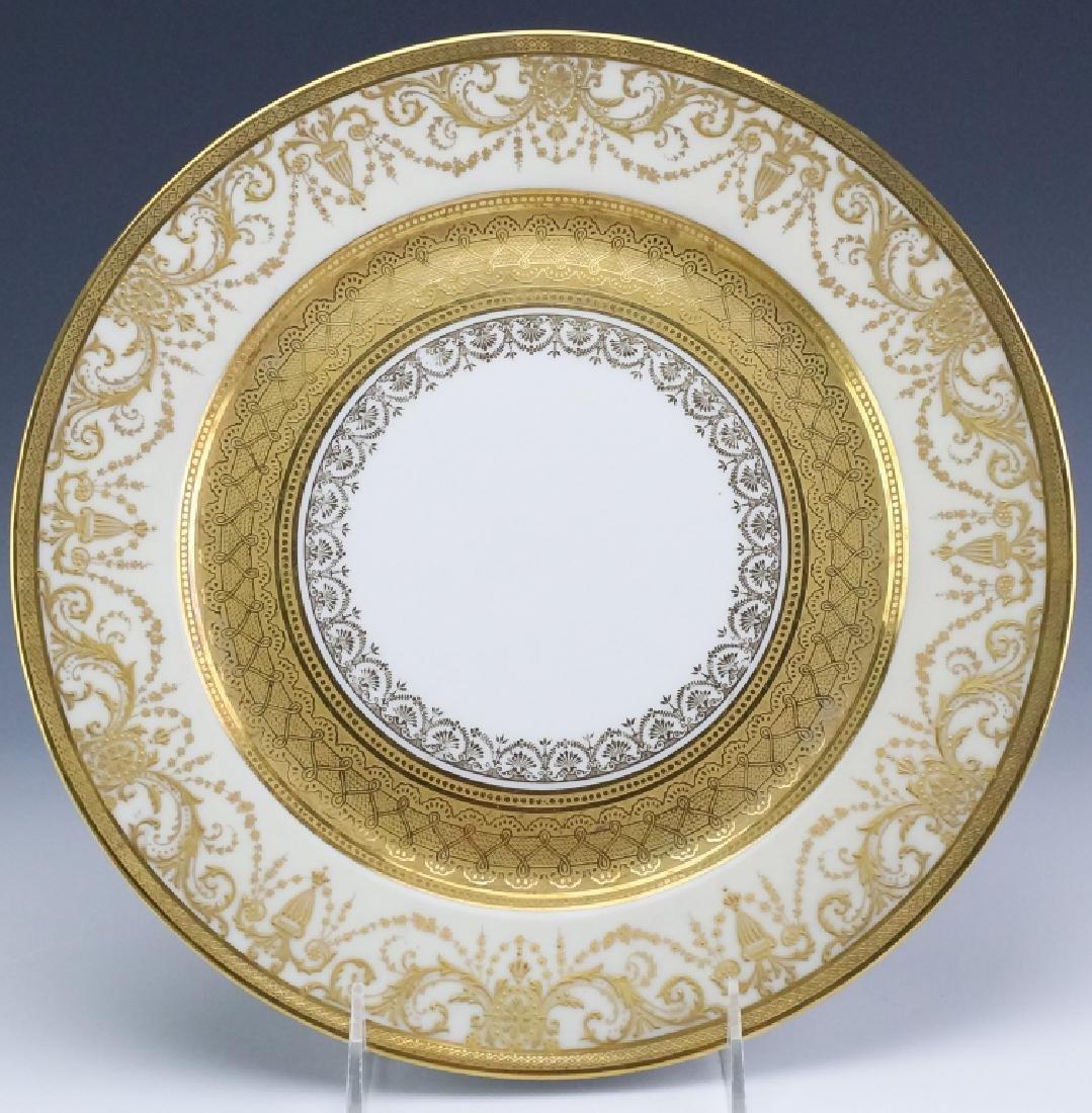 12 Guerin & Co Limoges Porcelain Dinner Plates SET - 2