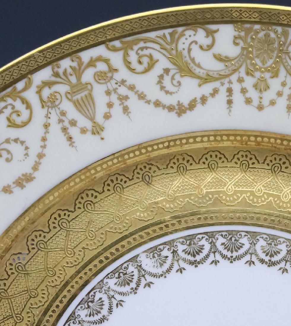 12 Guerin & Co Limoges Porcelain Dinner Plates SET - 3