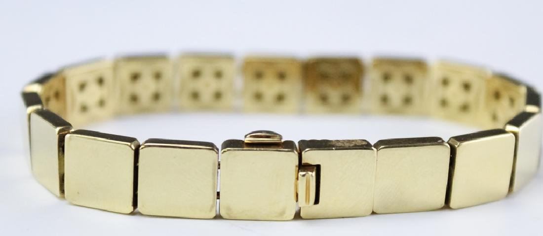dfc5a44e56084 Tiffany & Co 18k Square Cube Tile Link Bracelet