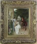 Carpentier 19thC European Genre Scene Oil Painting