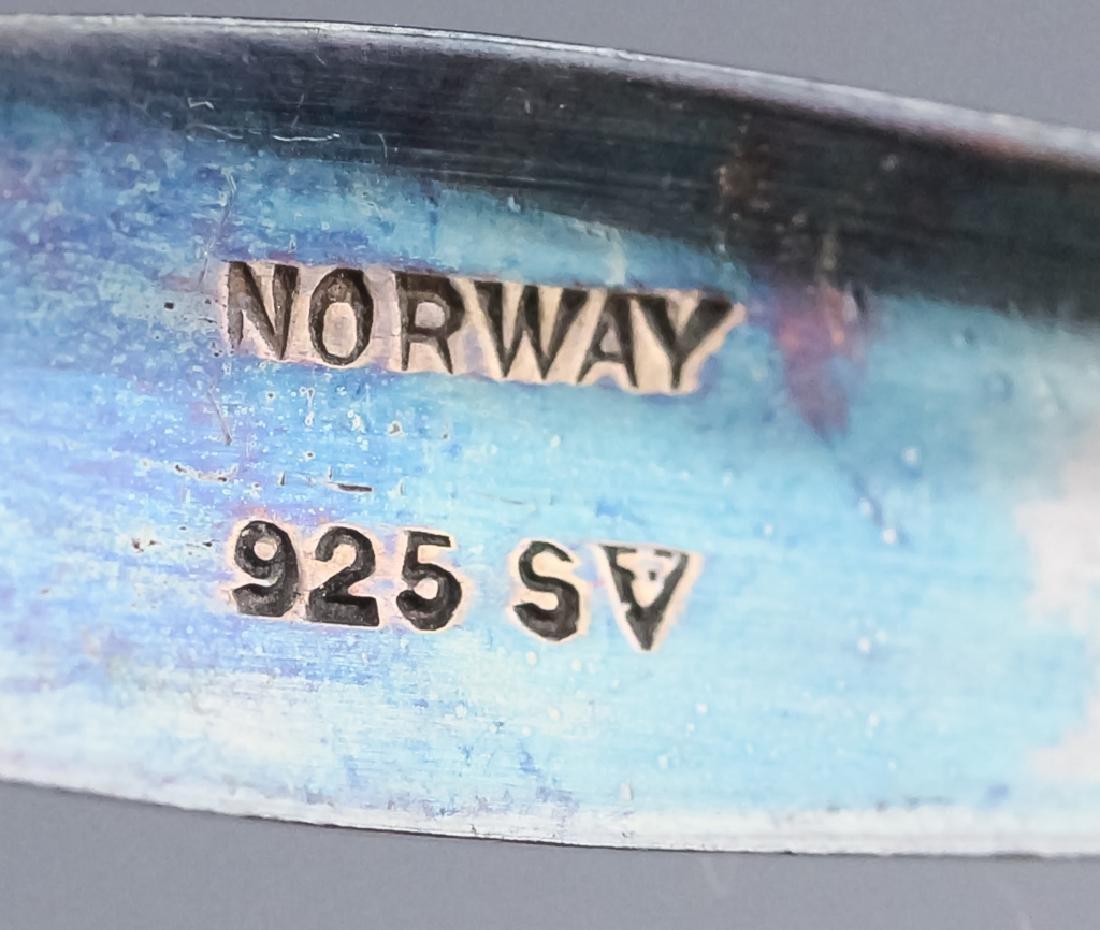 Norwegian Sterling Silver Enamel Demitasse Spoons - 5