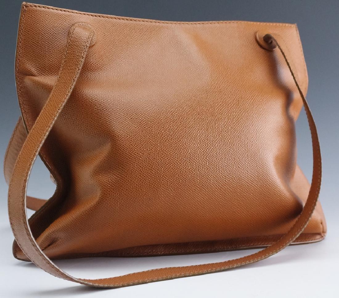 Chanel France Beige Leather Tote Bag Purse Handbag - 3