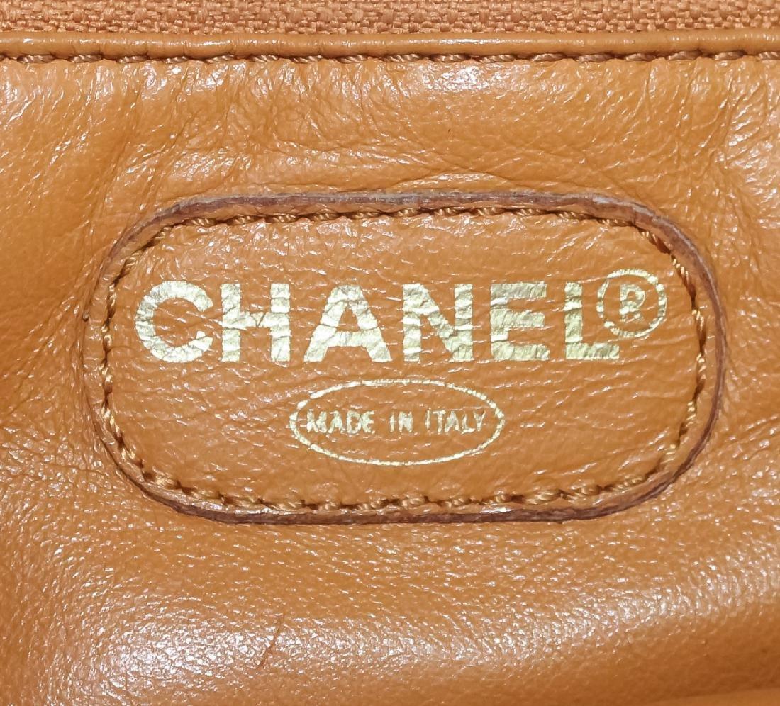 Chanel France Beige Leather Tote Bag Purse Handbag - 5