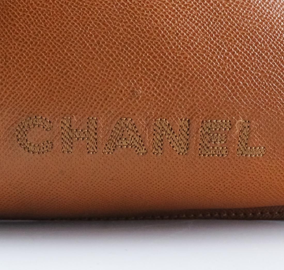 Chanel France Beige Leather Tote Bag Purse Handbag - 7