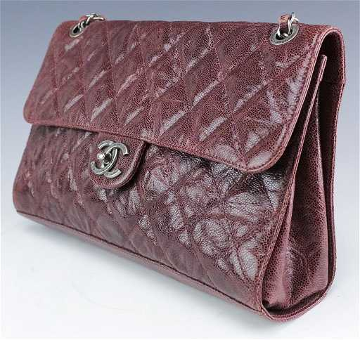 6d13f3e888a6 Chanel Jumbo Flap Shiva Burgundy Leather Handbag