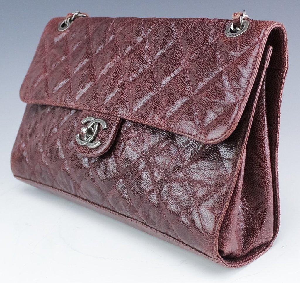 Chanel Jumbo Flap Shiva Burgundy Leather Handbag